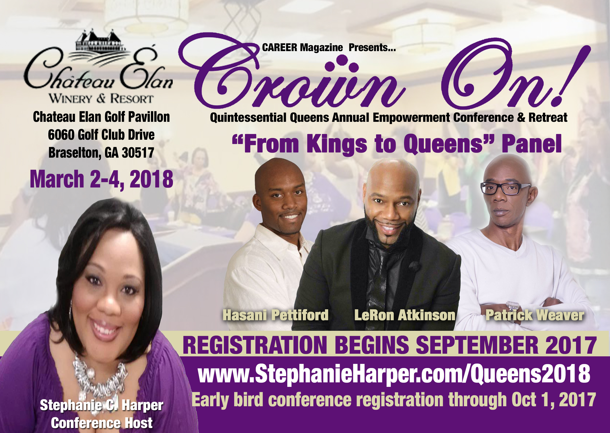 Queens 2018 stephanie c harper phr ccp chrm certified human our speaker section will be updated as speaker schedules are confirmed but out kings panel is royally solid xflitez Choice Image